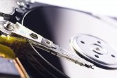 Close-Up of Harddrive/Harddisc