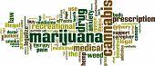 stock photo of gash  - Marijuana word cloud concept - JPG