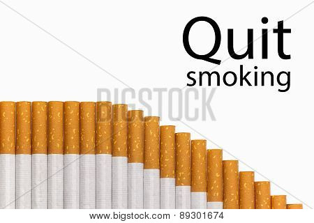 Quit Smoking Text Graph Of Cigarettes