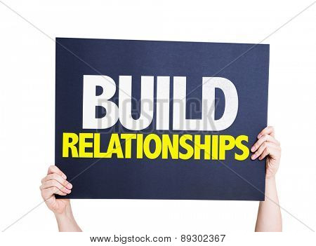 Build Relationships card isolated on white