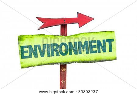 Environment sign isolated on white