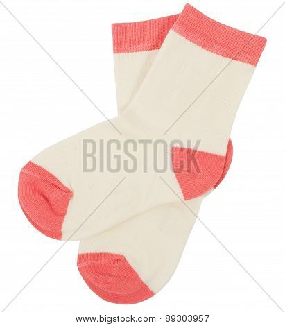 Pair of socks. Isolated on a white background.