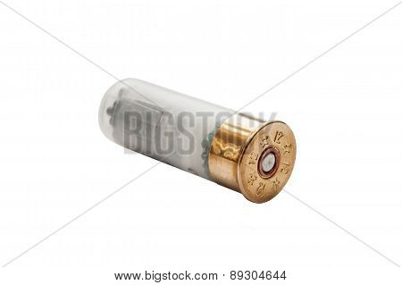 shotgun shell isolated on white