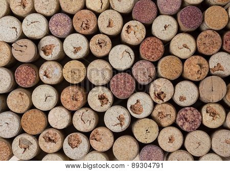 Background Of Many Wine Corks