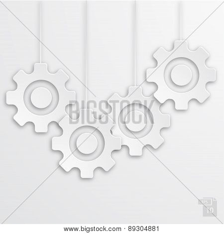 Vector modern mechanism icons background.