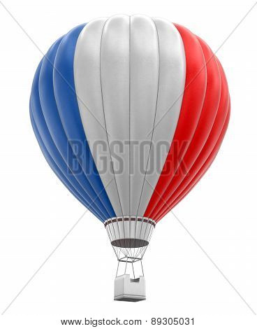 Hot Air Balloon with French Flag (clipping path included)
