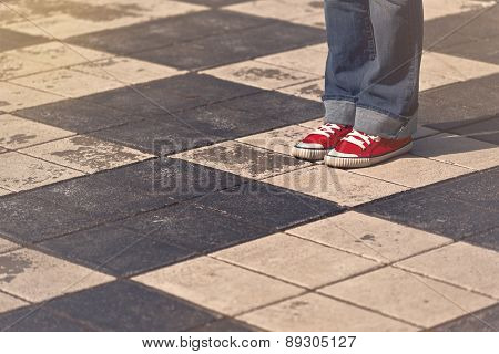 Young Teenage Female Standing On The Street