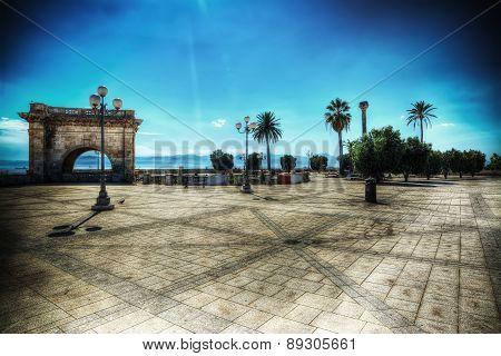 Sant Remi Bastion In Cagliari In Hdr