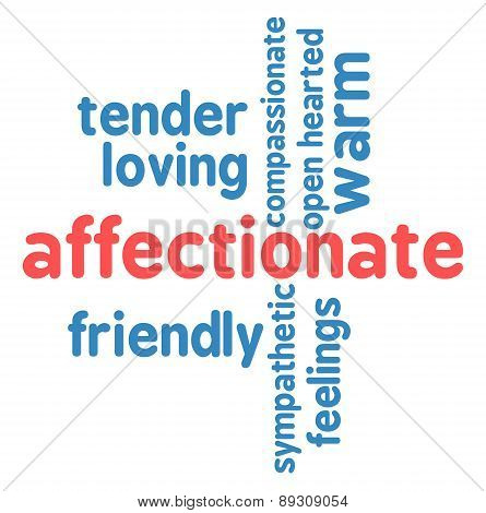Affectionate Word Cloud