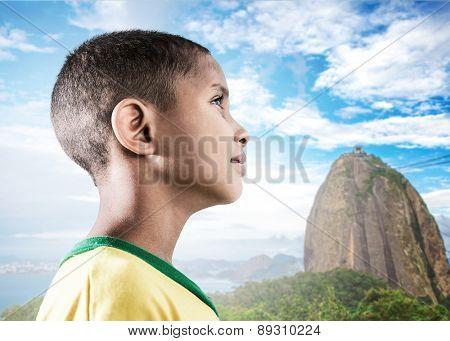 Brazilian little boy in Rio de Janeiro, Brazil