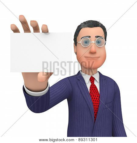 Business Card Shows Blank Space And Biz