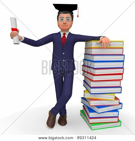 Man With Diploma Means New Grad And Phd
