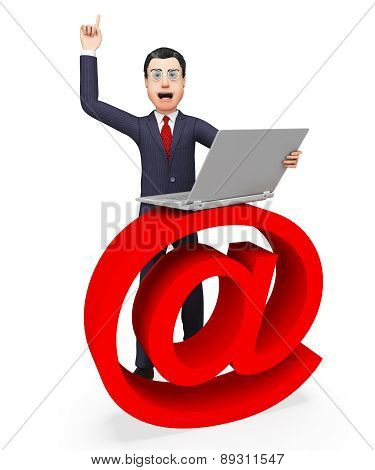 Email Sign Shows Send Message And Biz