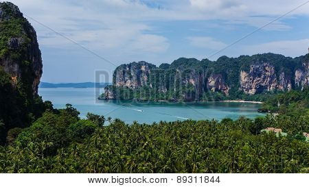 The Jungle And The Cliff Coast Of Railay, Thailand