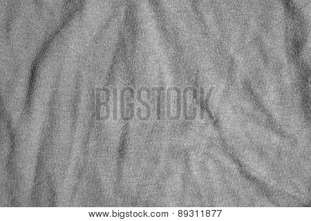Gray Fabric Background With Delicate Striped Pattern.