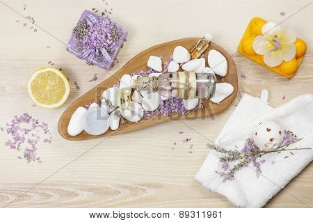 Lavender and lemon aromatherapy