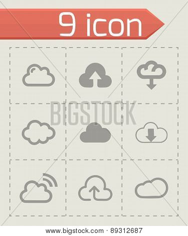 Vector cloud icons set