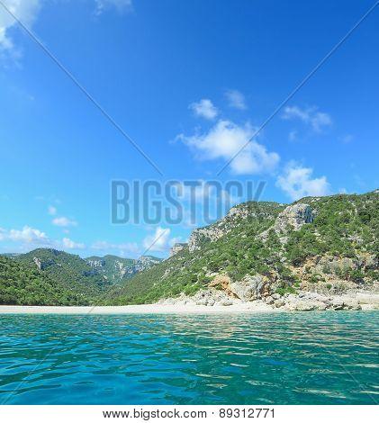 Cala Gonone Coastline Seen From The Sea