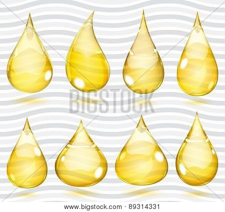 Transparent Yellow Drops