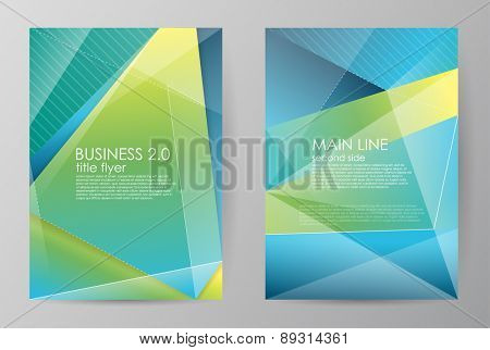 Set vertical horizontal of brochures in modern abstract style. Vector design templates. Abstract figures brochures. Business abstract background. Vector illustration.