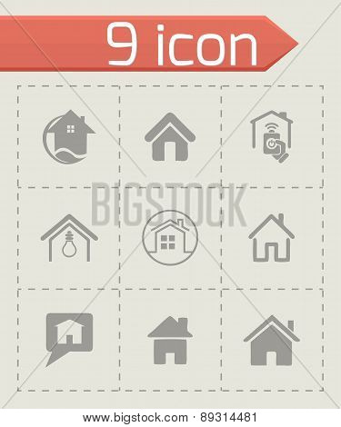 Vector home icons set