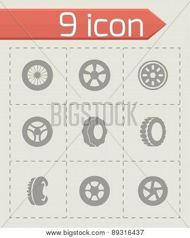 Vector tire icon set