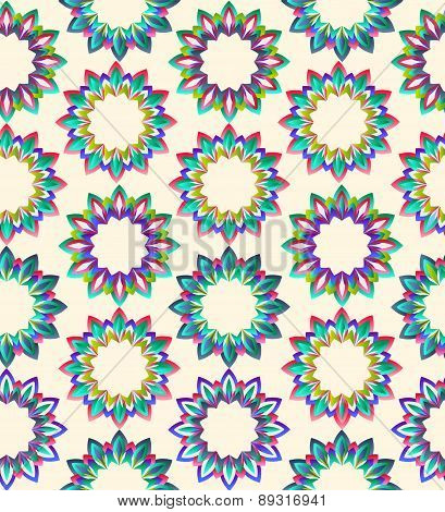 Vector Vintage Geometric Floral Background