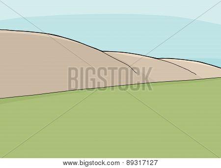 Grass And Hillside Scene