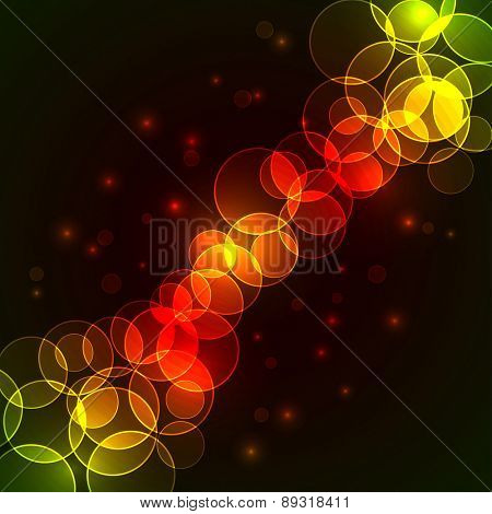 Colorful circles diagonal stream background with copy space.