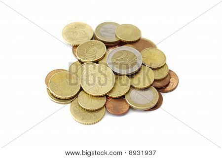 scattered coins