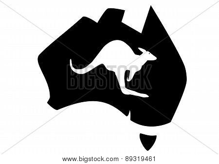 Map Australian Kangaroo