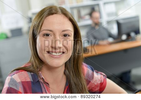 Female office worker