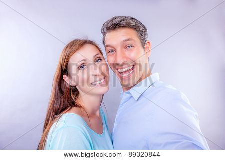 selfie made portrait of studio couple