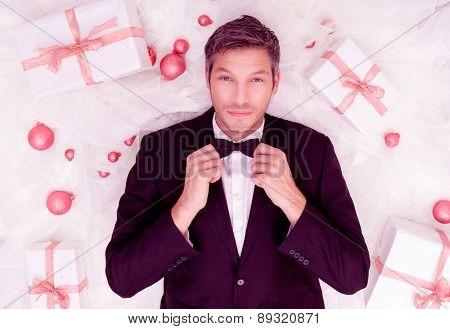 red white formal fashion voucher