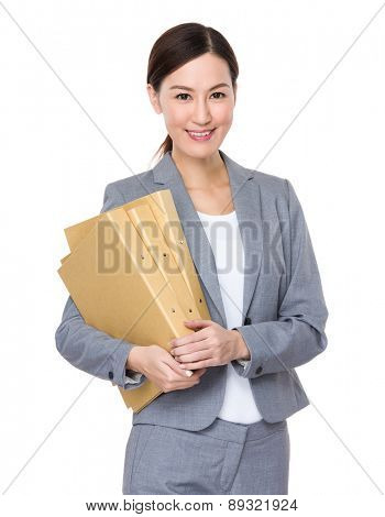 Asian businesswoman with folder