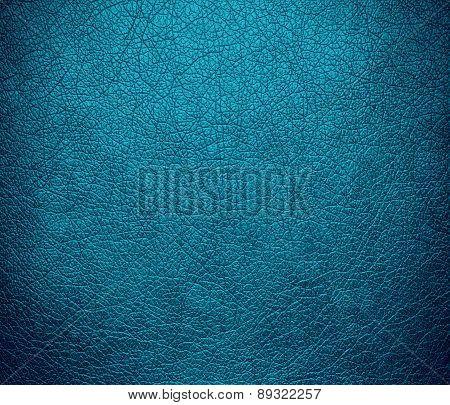 Bondi blue color leather texture background