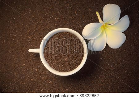 Ground Coffee And Flower