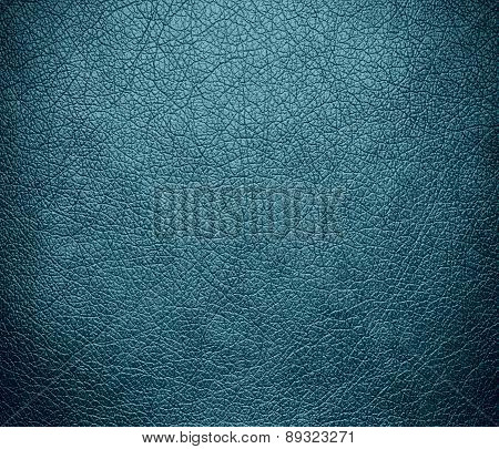 Blue Lagoon color leather texture background