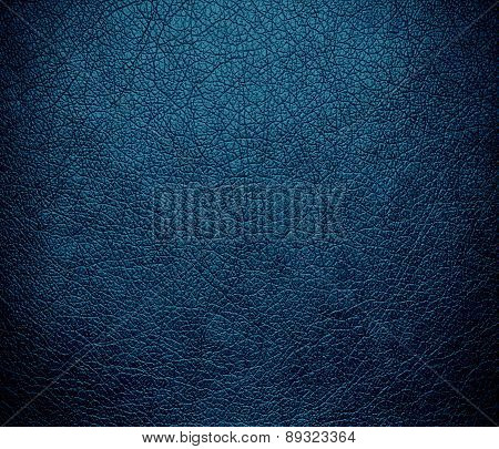 Blue sapphire color leather texture background