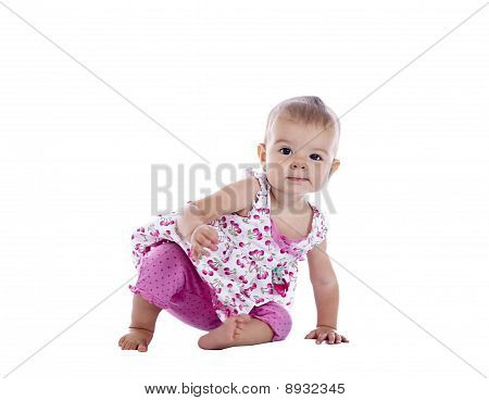 Little Girl Scooting