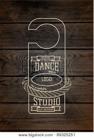 Dance studio badges logos and labels for any use