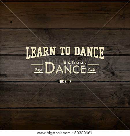 Learn to dance badges logos and labels for any use