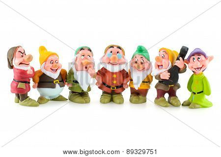Group Of The Seven Dwarfs Toy Figure.