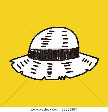 Doodle Straw Hat