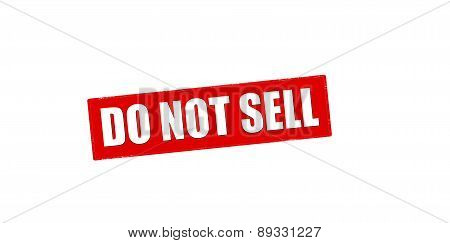 Do Not Sell