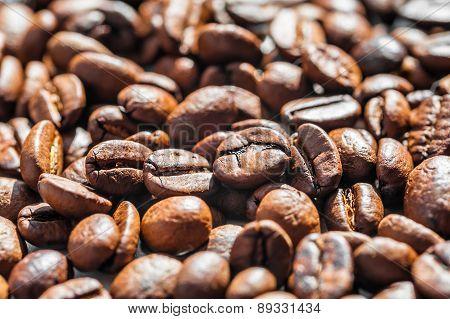 Macro Image Of Coffee Beans,
