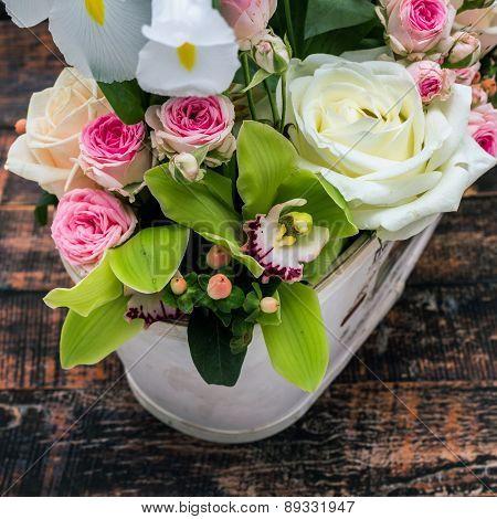 Fresh Flowers Decoration, Closeup