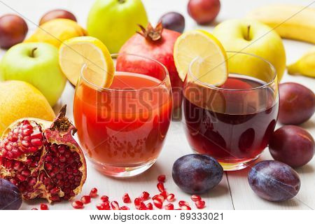 Pomegranate and plume juice
