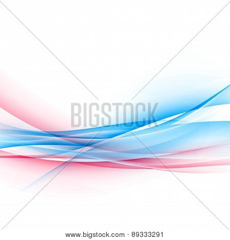 Dynamic Two Bright Color Swoosh Speed Wave