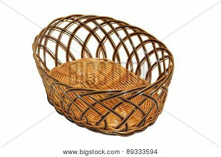 Isolated Wattle Basket